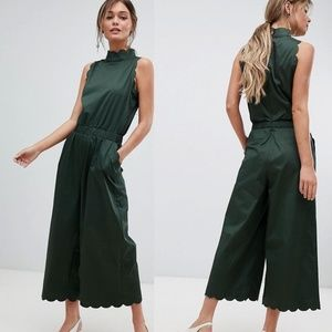 Ted Baker NAOMAY High neck scalloped jumpsuit NWOT